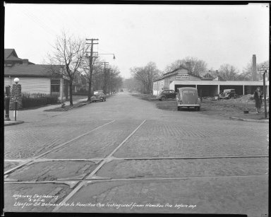 Street Improvement Photographs -- Box 39, Folder 23 (Llanfair Street) -- negative, 1941-03-20