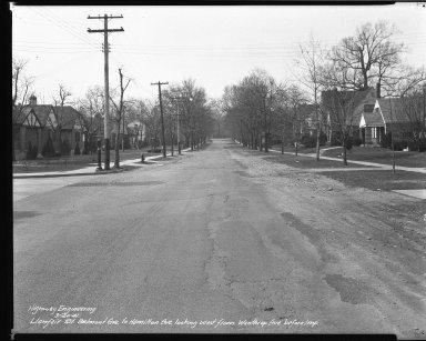 Street Improvement Photographs -- Box 39, Folder 23 (Llanfair Street) -- negative, 1941-03-20