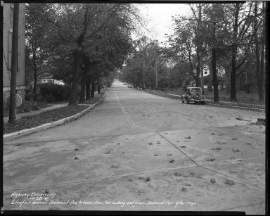 Street Improvement Photographs -- Box 39, Folder 23 (Llanfair Street) -- negative, 1941-10-28