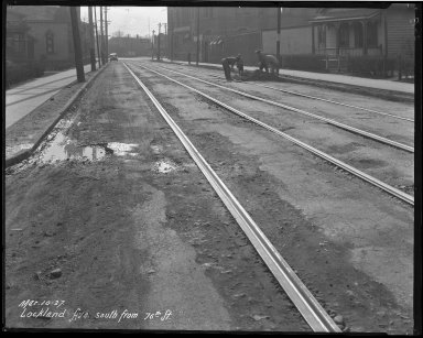 Street Improvement Photographs -- Box 39, Folder 24 (Lockland Avenue) -- negative, 1927-03-10
