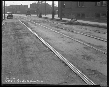 Street Improvement Photographs -- Box 39, Folder 24 (Lockland Avenue) -- negative, 1927-03-10