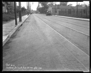 Street Improvement Photographs -- Box 39, Folder 24 (Lockland Avenue) -- negative, 1927-09-08