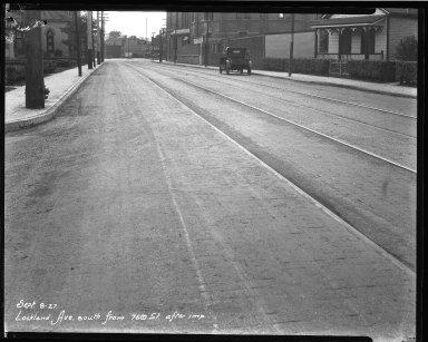 Street Improvement Photographs -- Box 39, Folder 25 (Lockland Avenue) -- negative, 1927-09-08
