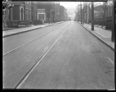 Street Improvement Photographs -- Box 39, Folder 25 (Lockland Avenue) -- negative, 1927