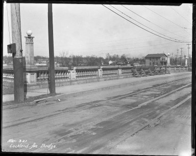 Street Improvement Photographs -- Box 39, Folder 26 (Lockland Avenue Bridge) -- negative, 1927-03-03