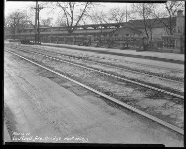 Street Improvement Photographs -- Box 39, Folder 26 (Lockland Avenue Bridge) -- negative, 1927-03-10