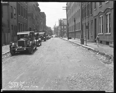 Street Improvement Photographs -- Box 39, Folder 27 (Logan Street) -- negative, 1932-07-08