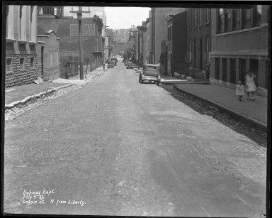 Street Improvement Photographs -- Box 39, Folder 27 (Logan Street) -- negative, 1932-07-09