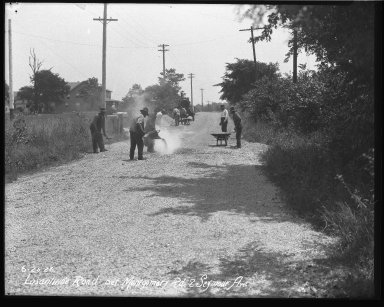Street Improvement Photographs -- Box 39, Folder 28 (Losantiville Avenue) -- negative, 1925-06-26