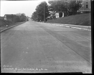 Street Improvement Photographs -- Box 39, Folder 28 (Losantiville Avenue) -- negative, 1927-10-27
