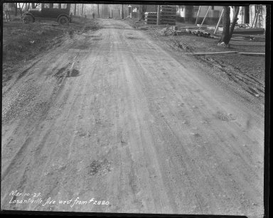Street Improvement Photographs -- Box 39, Folder 28 (Losantiville Avenue) -- negative, 1927-03-10