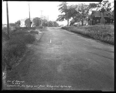 Street Improvement Photographs -- Box 39, Folder 29 (Losantiville Avenue) -- negative, 1931-09-28