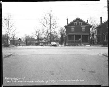 Street Improvement Photographs -- Box 39, Folder 31 (Losantiville Avenue) -- negative, 1943-03-23