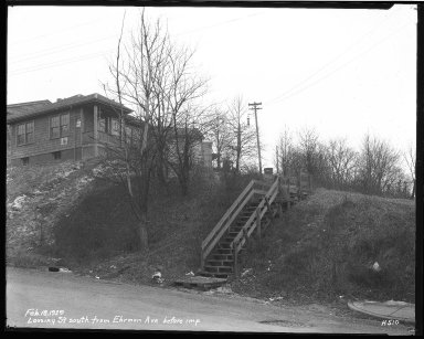 Street Improvement Photographs -- Box 39, Folder 33 (Lossing Avenue) -- negative, 1929-02-18