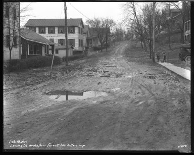 Street Improvement Photographs -- Box 39, Folder 33 (Lossing Avenue) -- negative, 1929-02-18