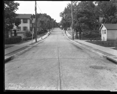 Street Improvement Photographs -- Box 39, Folder 33 (Lossing Avenue) -- negative, 1930-05-26