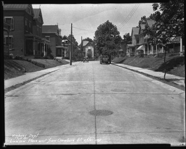 Street Improvement Photographs -- Box 39, Folder 41 (Ludlow Place) -- negative, 1930-07-16