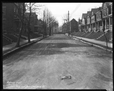 Street Improvement Photographs -- Box 39, Folder 41 (Ludlow Place) -- negative, 1930-02-14