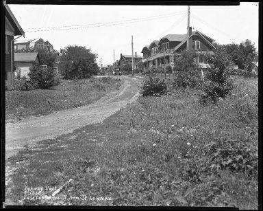 Street Improvement Photographs -- Box 39, Folder 43 (Lusatania Avenue) -- negative, 1932-07-12