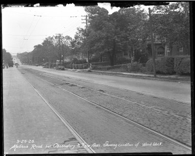 Street Improvement Photographs -- Box 40, Folder 01 (Madison Road) -- negative, 1926-09-29