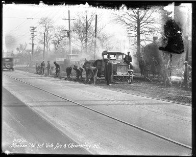 Street Improvement Photographs -- Box 40, Folder 02 (Madison Road) -- negative, 1926-11-23