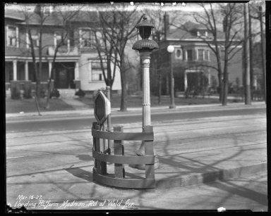 Street Improvement Photographs -- Box 40, Folder 02 (Madison Road) -- negative, 1927-03-16