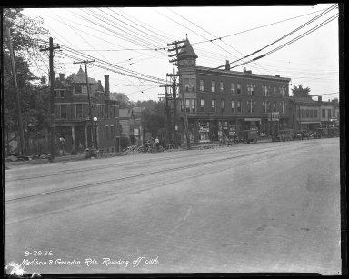 Street Improvement Photographs -- Box 40, Folder 03 (Madison Road) -- negative, 1926-09-29
