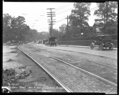 Street Improvement Photographs -- Box 40, Folder 03 (Madison Road) -- negative, 1926-09-29