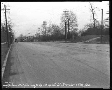 Street Improvement Photographs -- Box 40, Folder 03 (Madison Road) -- negative, 1927-01-05