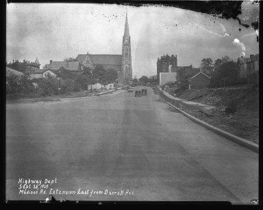 Street Improvement Photographs -- Box 40, Folder 04 (Madison Road) -- negative, 1929-09-24