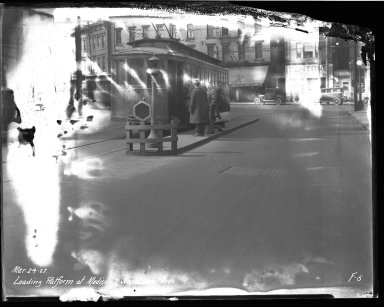 Street Improvement Photographs -- Box 40, Folder 04 (Madison Road) -- negative, 1927-03-24