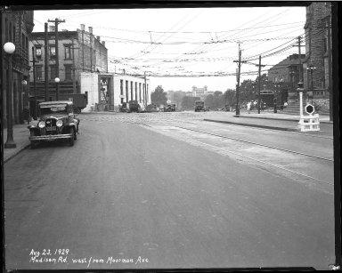 Street Improvement Photographs -- Box 40, Folder 04 (Madison Road) -- negative, 1929-08-23