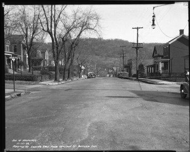 Street Improvement Photographs -- Box 40, Folder 05 (Madison Road) -- negative, 1938-11-21