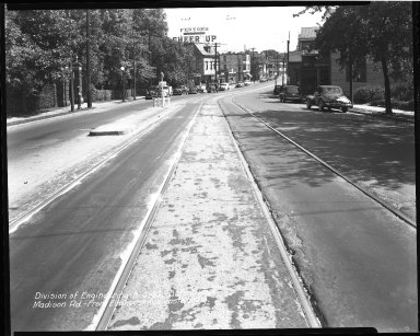 Street Improvement Photographs -- Box 40, Folder 06 (Madison Road) -- negative, 1946-09-04