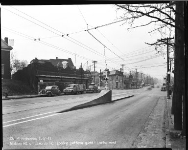 Street Improvement Photographs -- Box 40, Folder 07 (Madison Road) -- negative, 1947-12-12