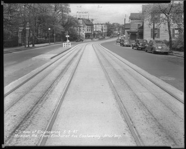 Street Improvement Photographs -- Box 40, Folder 07 (Madison Road) -- negative, 1947-05-08