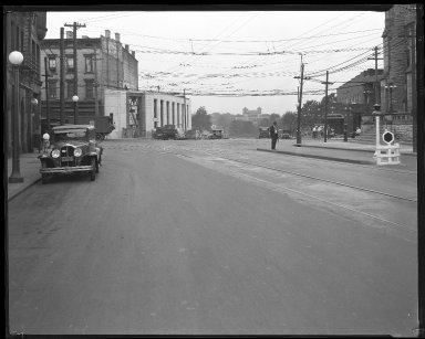 Street Improvement Photographs -- Box 40, Folder 08 (Madison Road) -- negative, 1929