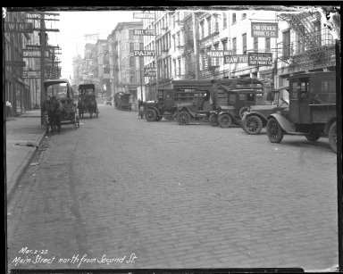 Street Improvement Photographs -- Box 40, Folder 12 (Main Street) -- negative, 1927-03-02