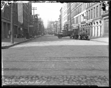 Street Improvement Photographs -- Box 40, Folder 12 (Main Street) -- negative, 1927-03-02