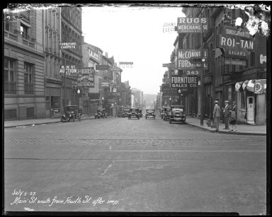Street Improvement Photographs -- Box 40, Folder 13 (Main Street) -- negative, 1927-07-08