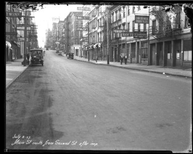 Street Improvement Photographs -- Box 40, Folder 13 (Main Street) -- negative, 1927-07-08
