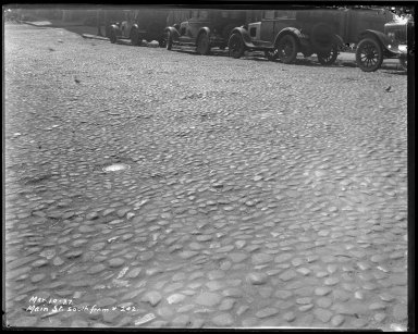 Street Improvement Photographs -- Box 40, Folder 14 (Main Street) -- negative, 1927-03-10