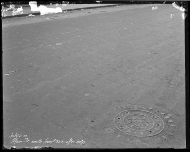 Street Improvement Photographs -- Box 40, Folder 15 (Main Street) -- negative, 1927-07-08