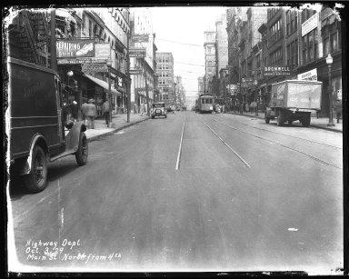 Street Improvement Photographs -- Box 40, Folder 15 (Main Street) -- negative, 1929-10-03