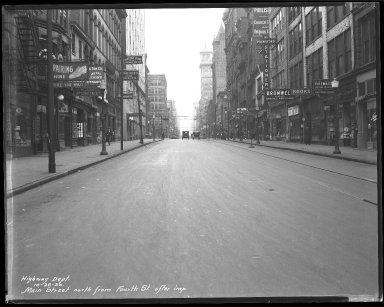 Street Improvement Photographs -- Box 40, Folder 16 (Main Street) -- negative, 1930-10-26
