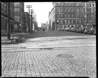 Street Improvement Photographs -- Box 40, Folder 16 (Main Street) -- negative, 1941-10-10