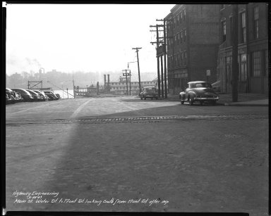 Street Improvement Photographs -- Box 40, Folder 16 (Main Street) -- negative, 1943-03-18