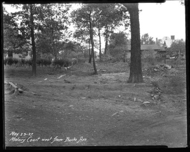 Street Improvement Photographs -- Box 40, Folder 17 (Malory Court) -- negative, 1927-05-23