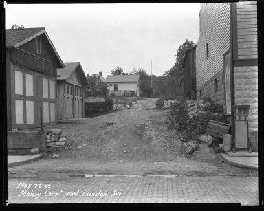Street Improvement Photographs -- Box 40, Folder 17 (Malory Court) -- negative, 1927-05-23