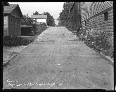 Street Improvement Photographs -- Box 40, Folder 17 (Malory Court) -- negative, 1927-09-09